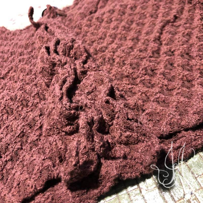 Chevallier Cardigan in Iced Tea Stretchy Lace.