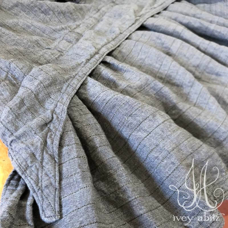 Baedeker Skirt in Grey Garden Washed Stripe Linen