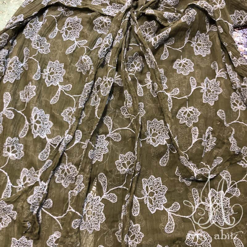 Phinneus Coat Dress, back detail, in Flora Embroidered Gauze.
