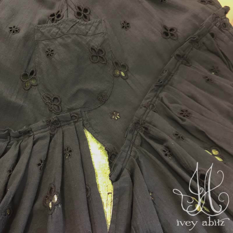 Evie Frock in Black Embroidered Eyelet
