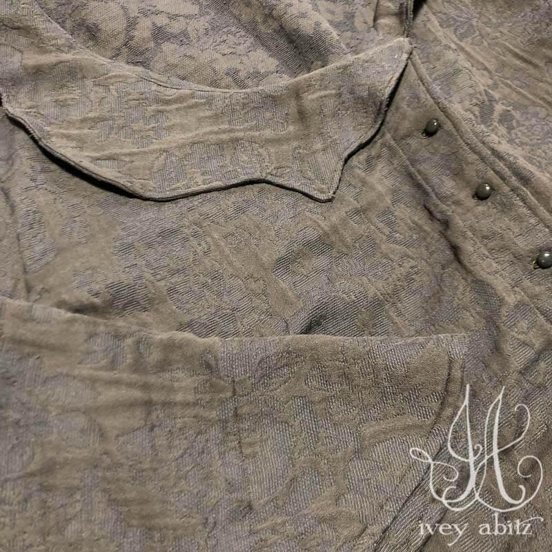 Chevallier Duster Coat in Grey Garden Floral Jacquard
