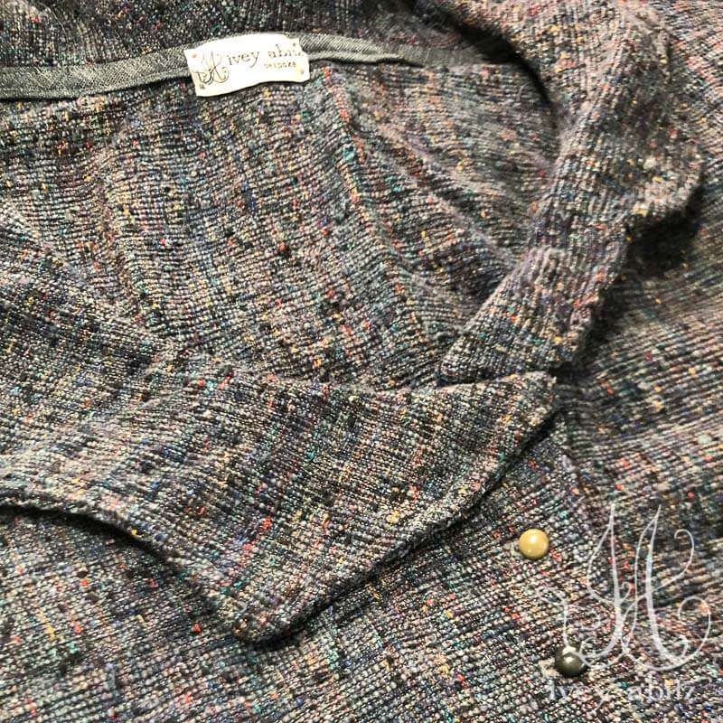 Chevallier Vest in Bouquet Old World Weave, adorned with antique buttons, circa early 1900's.
