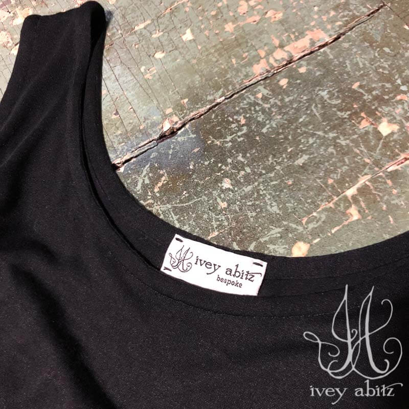 Cilla Slip Frock in Black Silk Knit