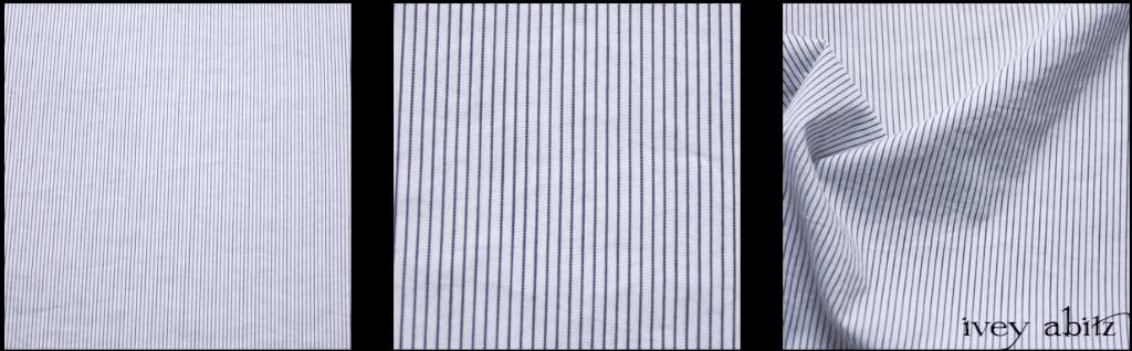 Black and White Striped Cotton by Ivey Abitz