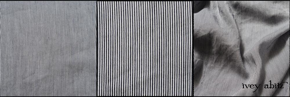 Black White Petite Pinstripe Voile