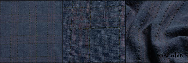 Blue Skies Washed Plaid Linen