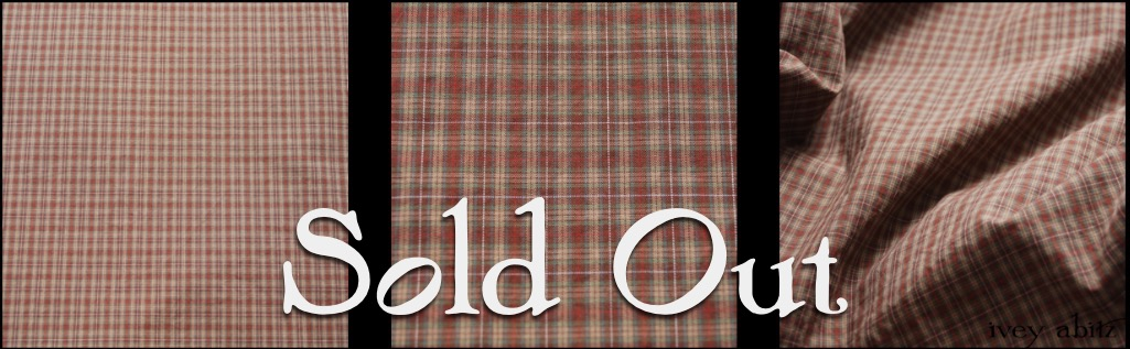 Brick Plaid Cotton - Description: A smart, yarn dyed plaid in an even smarter cotton broadcloth year round weave. It has a mix of our Brick hues with a hint of Lawn. It is a muted, subtle, and striking plaid that is pleasant to look upon. It is even more pleasant to wear in one of our frocks, skirts, or shirts.