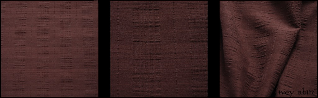 Brick Wispy Plaid Voile - Description: As any IA aficionado knows, we love a well-designed plaid in a fine weave. Sometimes, though, a solid hued garment is desired. This weave allows you to have the best of both worlds -- a solid hue AND a plaid! Look closely, and you'll see the stunning plaid design woven right into the weave, creating an interplay of opaqueness and semi-transparency. The result is one of our all-time favourite voiles. You might remember this weave in our Blushed hue from Spring 2017. Introducing the new Spring 2018 version of it in our sumptuous Brick hue.