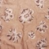 Ivey Abitz - Brownstone Banister Floral Silk - Description: The earthiness and freshness of our new Brownstone Banister Floral Silk is perfect for Spring 2018. The block printed floral motif balances beautifully with the soothing silk background. We put it through special washings to accentuate the softness and character of this fine weave.