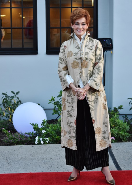 Carolyn Hennesy wore Ivey Abitz Fall preview ensemble to the opening of the Garry Marshall Theatre, where she starred in a production of Master Class.