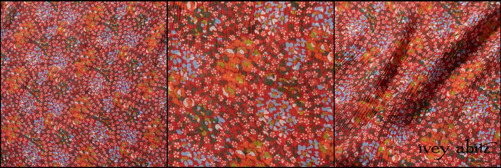 Cherry Floral Silk Chiffon