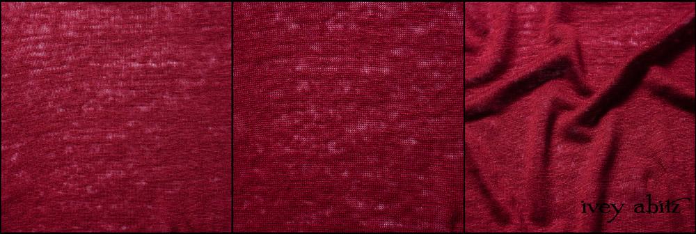 Cherry Lightweight Linen Knit