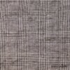 Ivey Abitz - Chimney Washed Glen Plaid Linen - Description: Subtlety and refinement and its finest. A mix of Chimney (Black) with a Parchment hue. Yarn dyed Scottish glen plaid weave -- an old world weave with modern appeal. Pairs brilliantly with our Chimney Washed Houndstooth Linen.