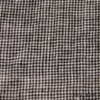 Ivey Abitz - Chimney Washed Houndstooth Linen - Description: Subtlety and refinement and its finest. A mix of Chimney (Black) with a Parchment hue. Yarn dyed Scottish houndstooth weave -- an old world weave with modern appeal. Pairs brilliantly with our Chimney Washed Glen Plaid Linen.