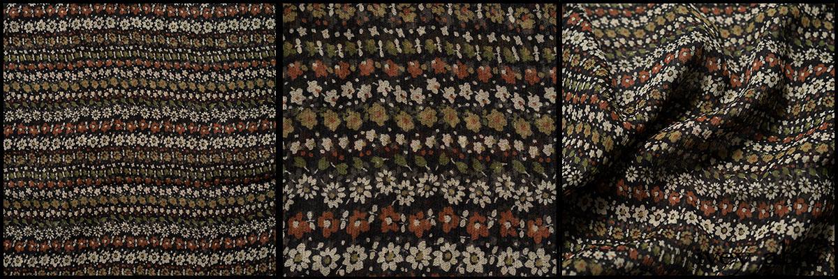Civility Garden Row Silk Chiffon - Collection 64