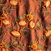 Coral Embroidered Washed Silk