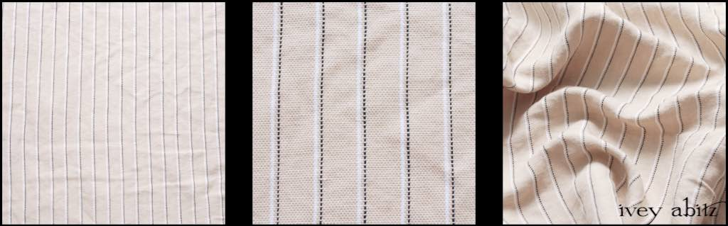 Devon Cream Pinstripe Weave by Ivey Abitz