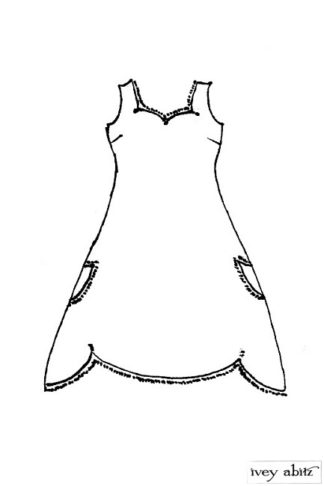 Ardsley Frock drawing by Ivey Abitz
