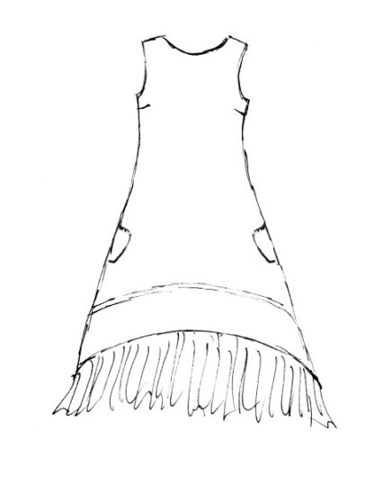 Blanchefleur Frock drawing by Ivey Abitz