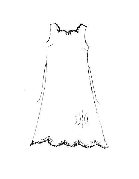 Celia frock drawing by Ivey Abitz
