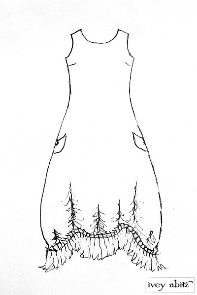 Clemmie Frock drawing by Ivey Abitz