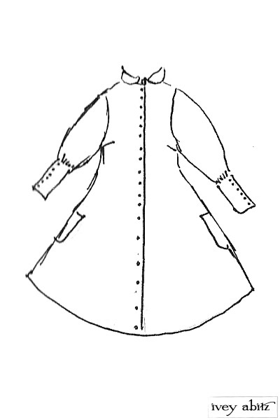 Coulson Coat Dress drawing by Ivey Abitz