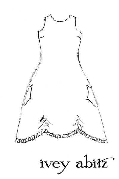 Montmorency Frock Drawing by Ivey Abitz