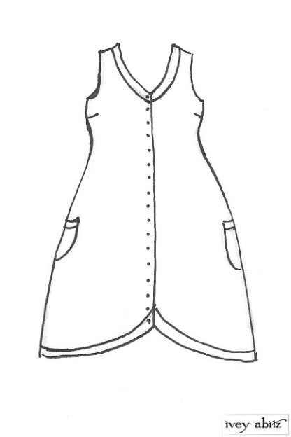 Truitt Frock drawing by Ivey Abitz