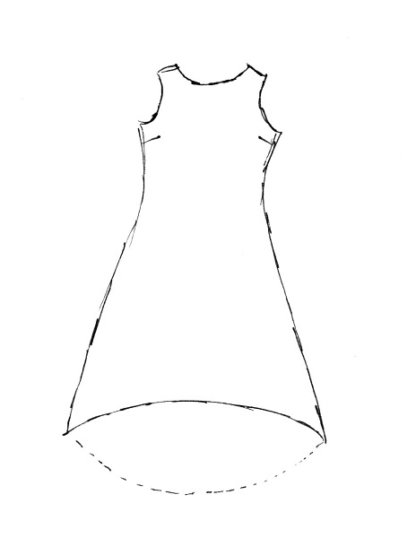 Wildefield Frock drawing by Ivey Abitz