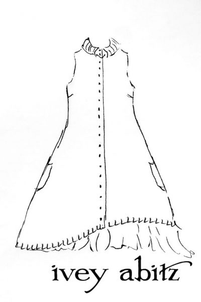 Wilhemena Frock Drawing by Ivey Abitz