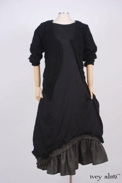 Windhurst Dress - a bespoke design shown in a look by Ivey Abitz