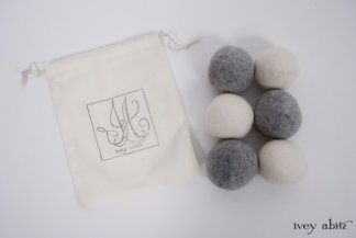 Wool dryer balls from Ivey Abitz