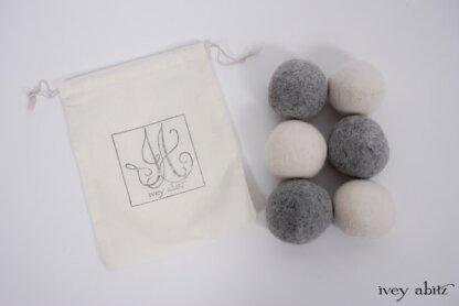 Wool dryer balls from Ivey Abitz