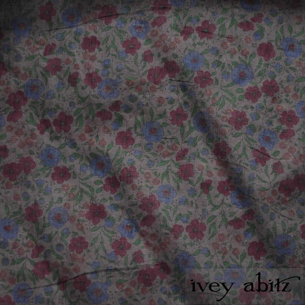 Peony Meadow Cotton Voile for bespoke Ivey Abitz designs