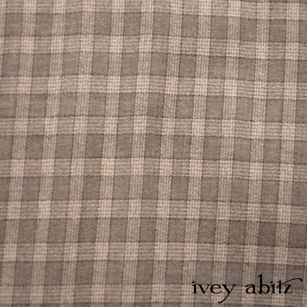 Flaxseed Plaid Weave for bespoke Ivey Abitz designs