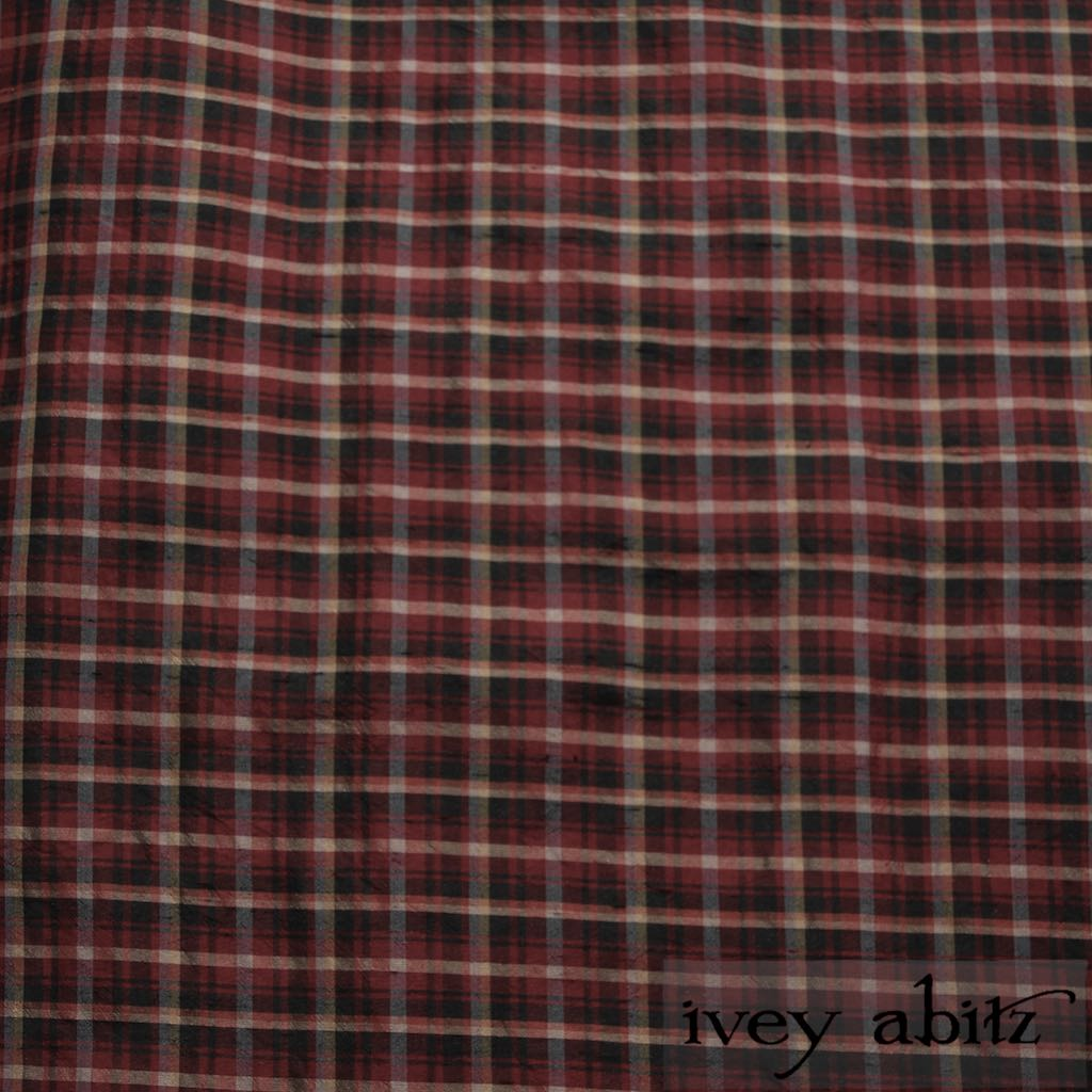Peony Washed Plaid Silk for bespoke Ivey Abitz designs
