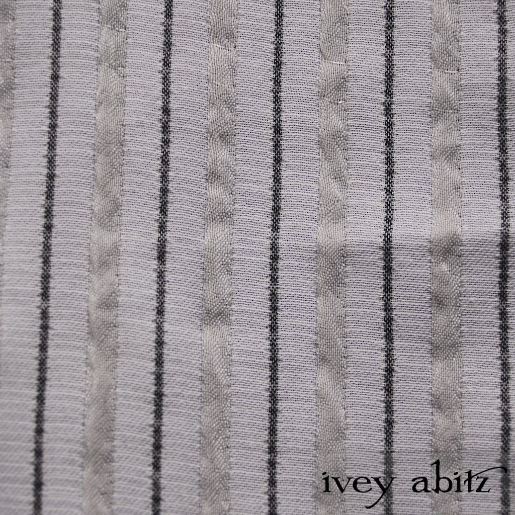 Sparrow Grey Raised Striped Weave for bespoke Ivey Abitz designs