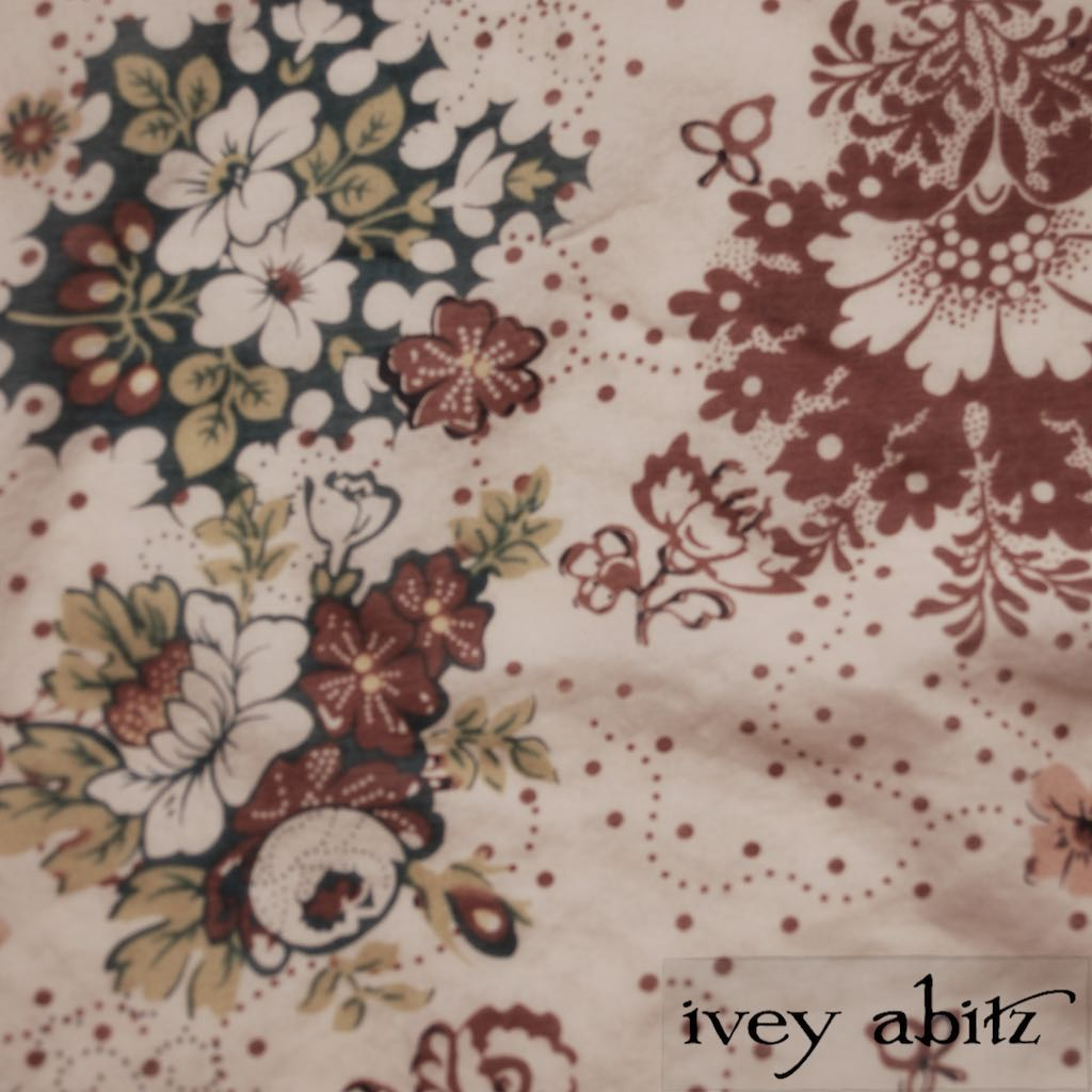 Blushed Meadow Floral Voile for Ivey Abitz bespoke designs