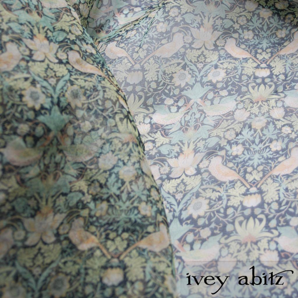 Bird and Vine Silk Organza for Ivey Abitz bespoke designs