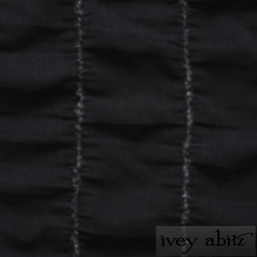Blackbird Embroidered Striped Challis for bespoke Ivey Abitz designs