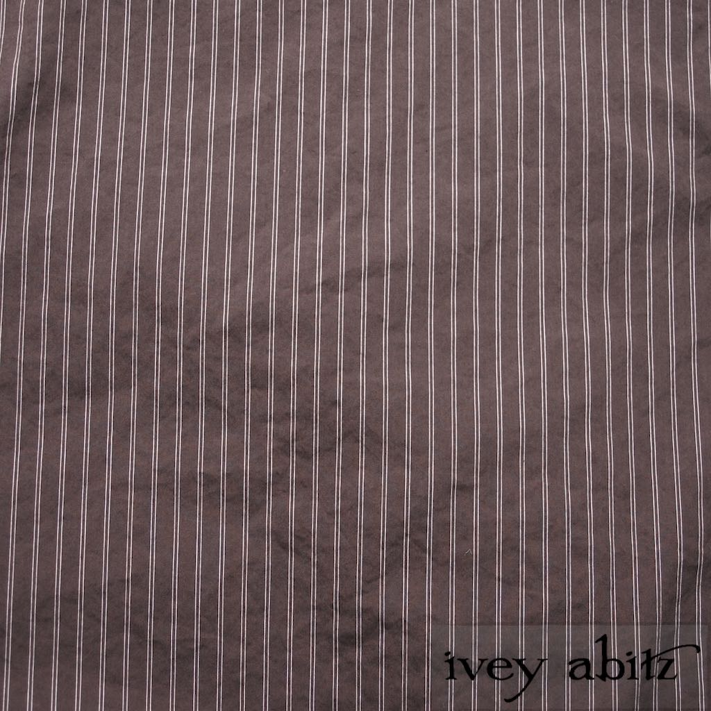 Feather Brown Stretchy Striped Cotton for Ivey Abitz bespoke designs for Ivey Abitz bespoke designs