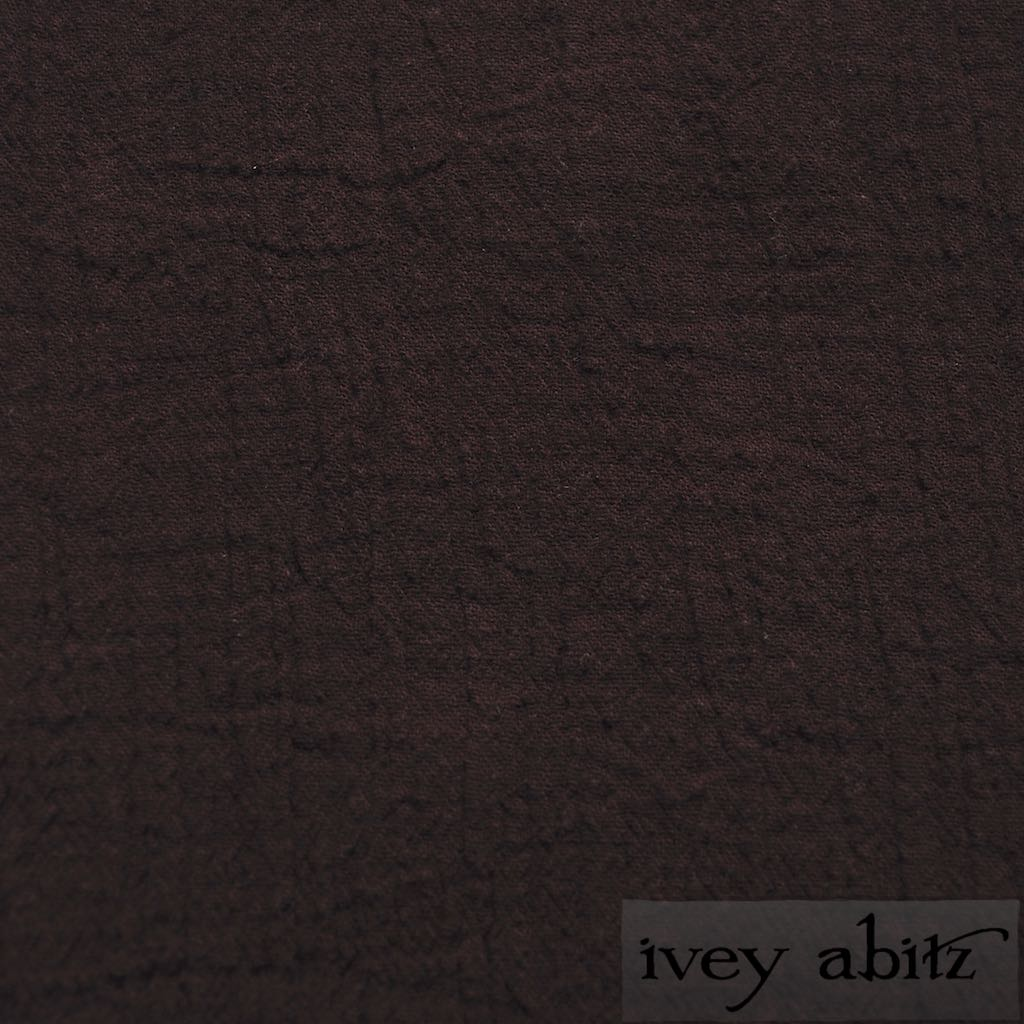 Plumseed Crinkled Cotton Gauze for bespoke Ivey Abitz designs