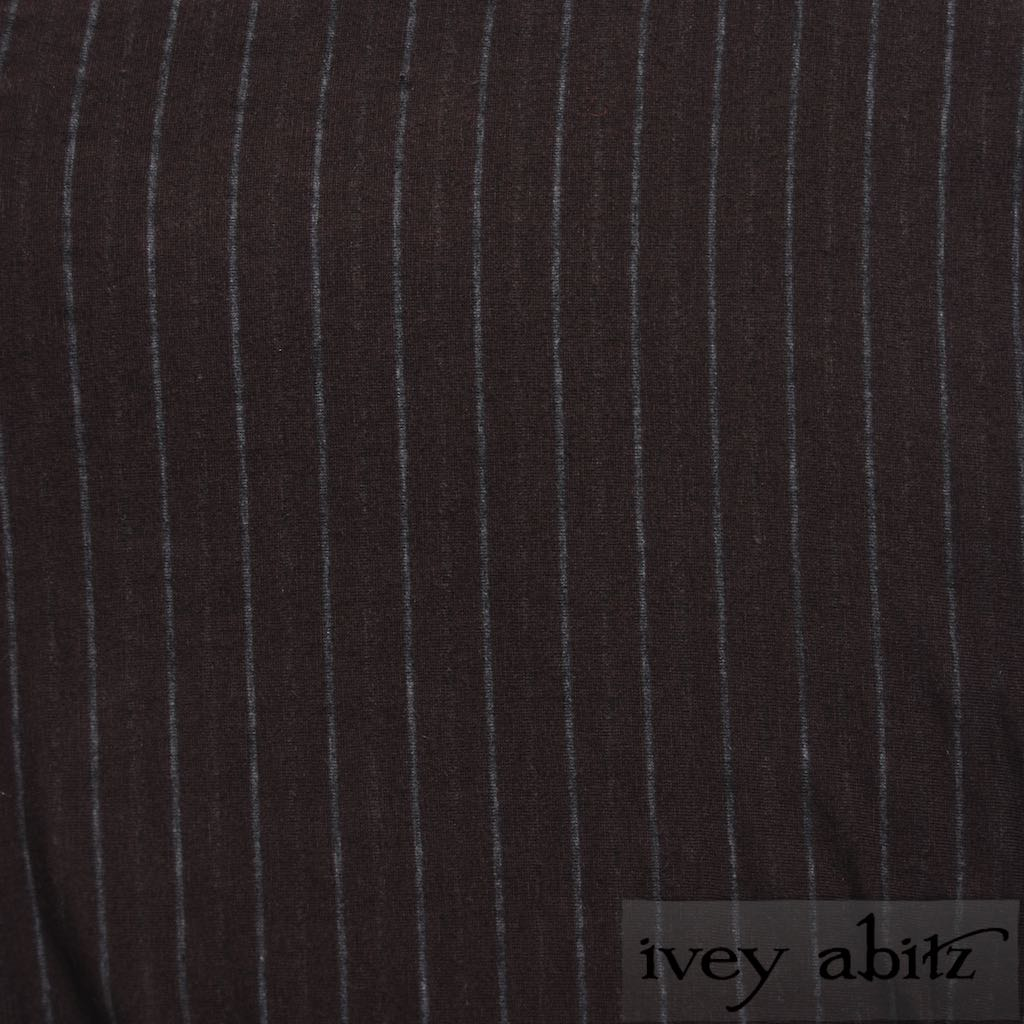 Plumseed Silky Striped Knit for bespoke Ivey Abitz designs