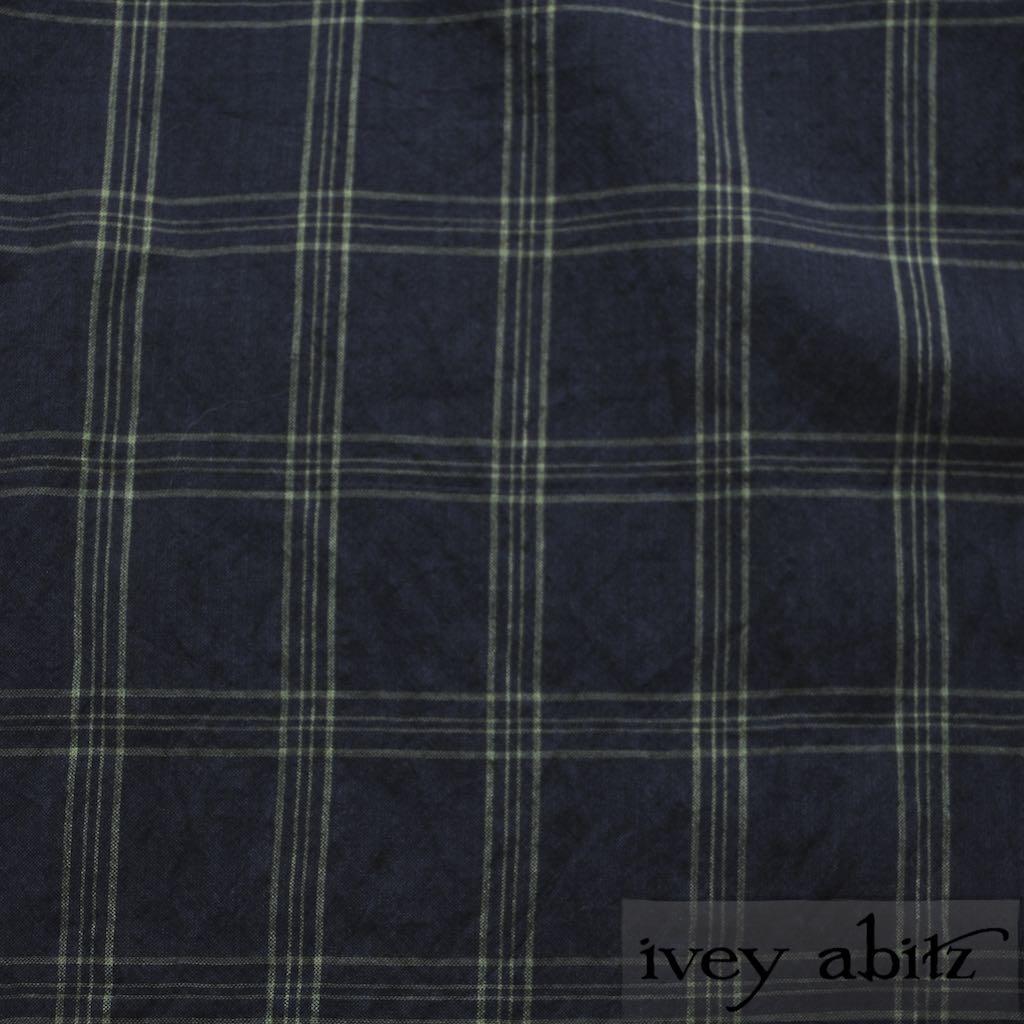 Meadow/Sea Plaid Cotton Voile for bespoke Ivey Abitz designs