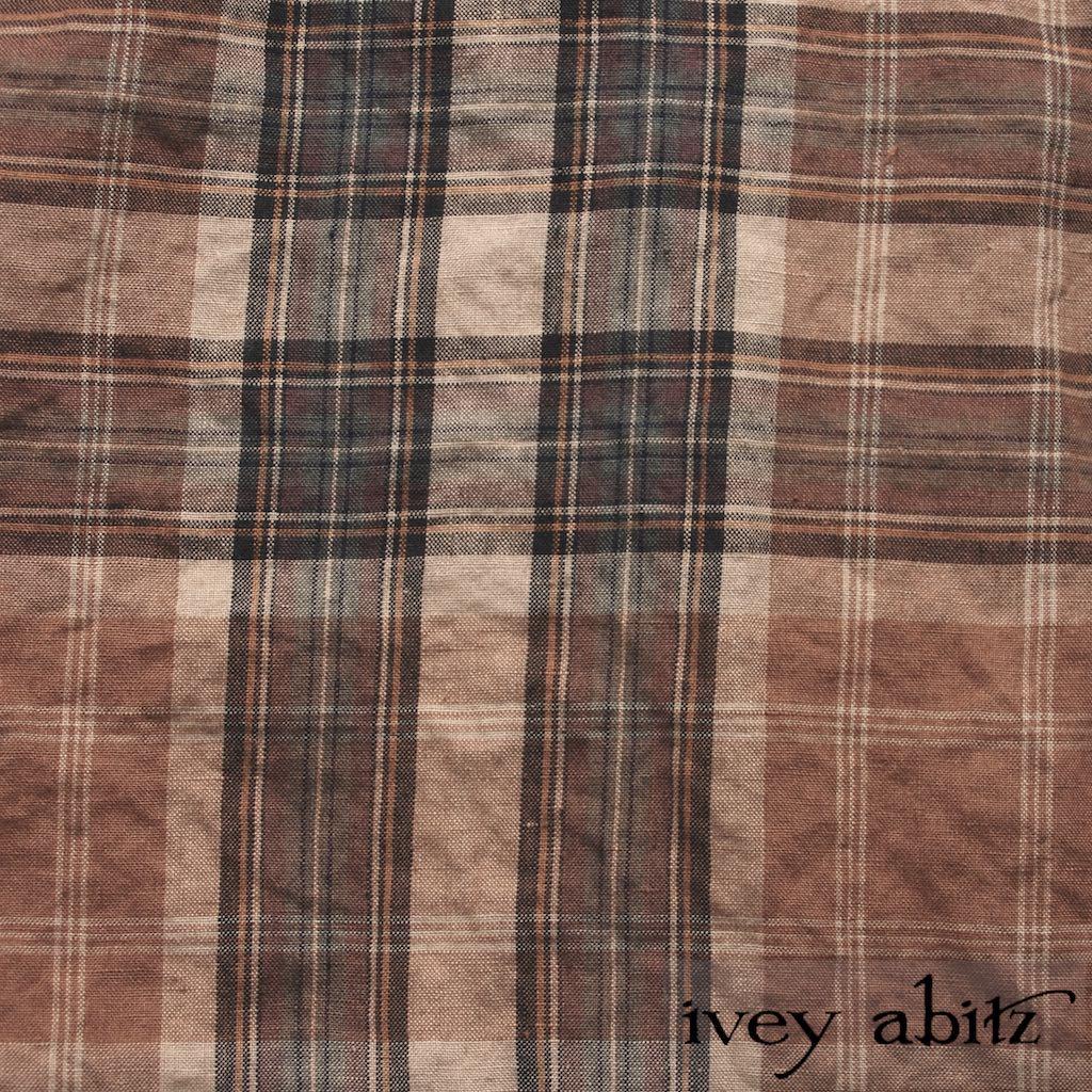 Eternal Spring Plaid Linen for Ivey Abitz bespoke designs