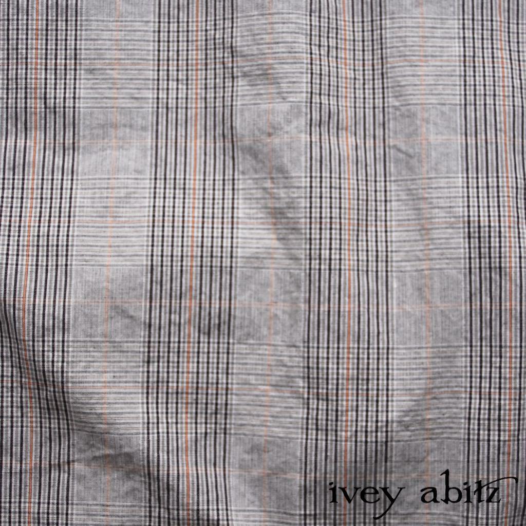 Sparrow Grey Plaid Poplin for bespoke Ivey Abitz designs