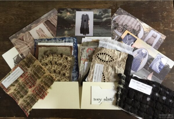 Fabric Swatch Portfolio for the 2017 Midsummer Ivey Abitz Bespoke Collection