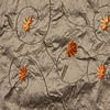 Purpose: Appropriate for a selection of our vests, frocks, dusters, skirts, and sashes in the collection. Description: Swirled vines dance across this wonderful washed silk. Its floral embroidered embellishments alternate between woven silk flowers and tufted velvet detail. A mix of Floral hues with Sun accents. Soothing and cheerful hues. Content: 100 percent washed silk.Care: Simply hand wash or put through machine delicate cycle in cold water with a plant based detergent. We suggest using a natural fabric softener to maintain the softness we have washed into it. Tumble dry on extra-low heat with our artisan wool dryer balls to keep the relaxed effect that is featured in the Look Book.