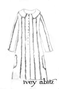 Florentine Duster Coat drawing