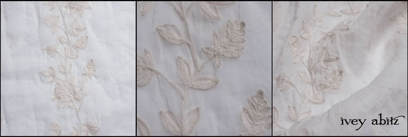 Gardenia Crewel Work Organdy